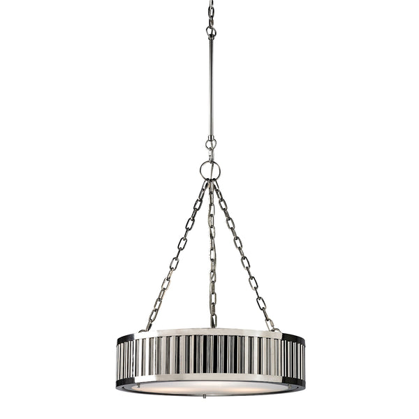 Linden Manor 3 Light Pendant In Polished Nickel