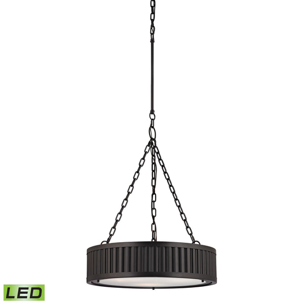 Linden Manor 3 Light LED Pendant In Oil Rubbed Bronze