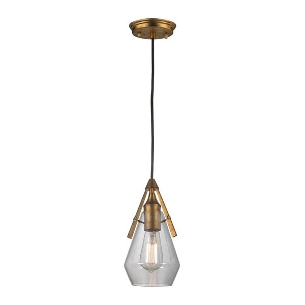 Duncan 1 Light Pendant In Antique Gold Leaf