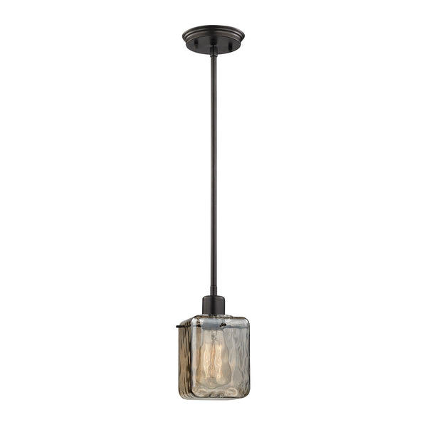 Watercube 1 Light Pendant In Oil Rubbed Bronze