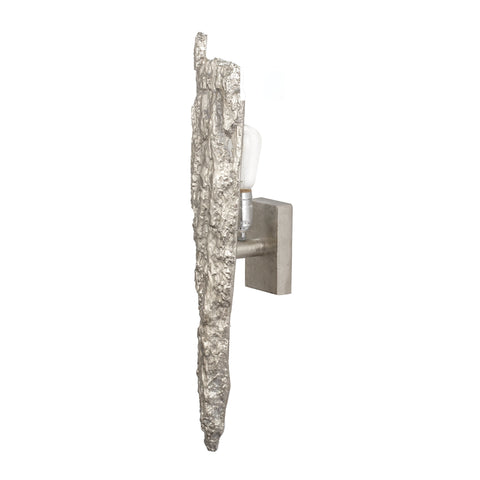 Beautiful Dimond Home  Silver Bark Wall Sconce  in  Aluminum