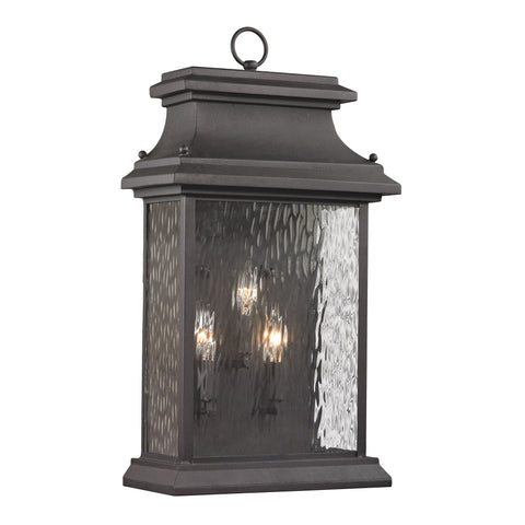 Elk Forged Provincial 3 Light Outdoor Sconce In Charcoal Outdoor Wall item number 47054/3