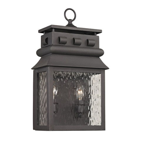Elk Forged Lancaster 2 Light Outdoor Sconce In Charcoal Outdoor Wall item number 47061/2