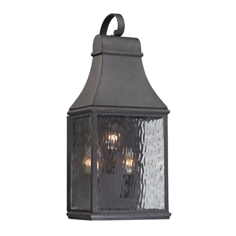 Elk Forged Jefferson 3 Light Outdoor Sconce In Charcoal Outdoor Wall item number 47072/3