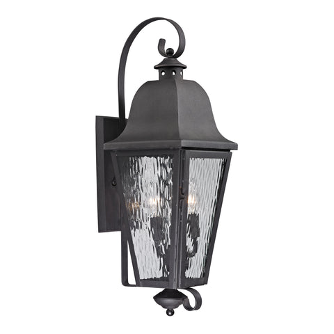 ELK Lighting  Forged Brookridge Collection 3 light outdoor sconce in Charcoal