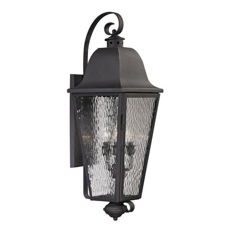 Elk Forged Brookridge 4 Light Outdoor Sconce In Charcoal Outdoor Wall item number 47103/4