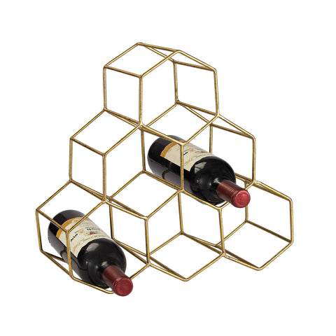 Beautiful Sterling  Angular Study Hexagonal wine rack.  in
