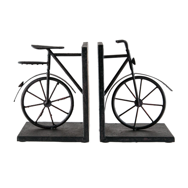 Beautiful Sterling  A-PAIR BICYCLE BOOKENDS  in  Metal