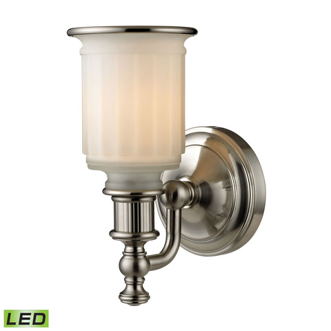 Acadia 1 Light LED Vanity In Brushed Nickel
