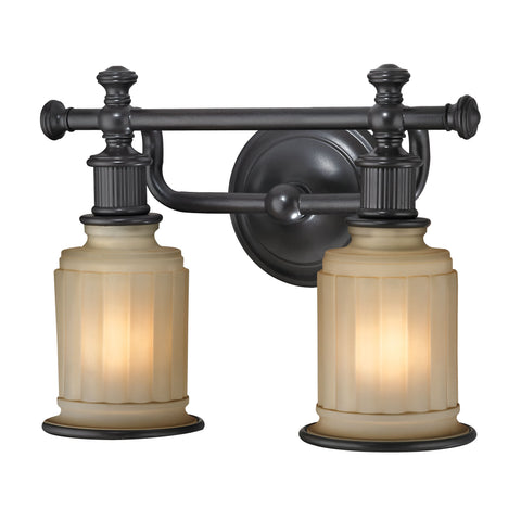 Acadia 2 Light Vanity In Oil Rubbed Bronze