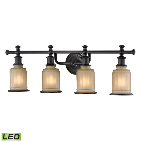 Acadia 4 Light LED Vanity In Oil Rubbed Bronze