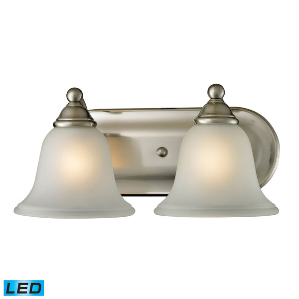 Thomas Shelburne 2 Light LED Vanity In Brushed Nickel
