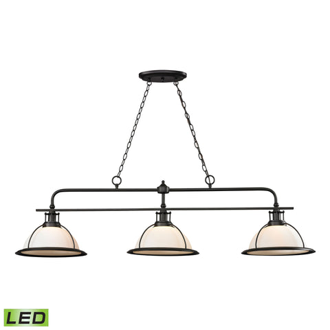 Wilmington 3 Light LED Billiard In Oil Rubbed Bronze