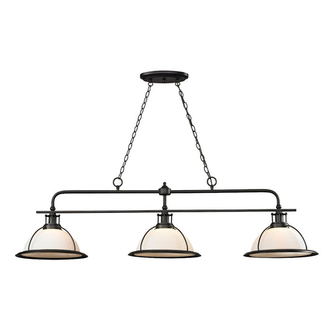 Wilmington 3 Light Billiard In Oil Rubbed Bronze