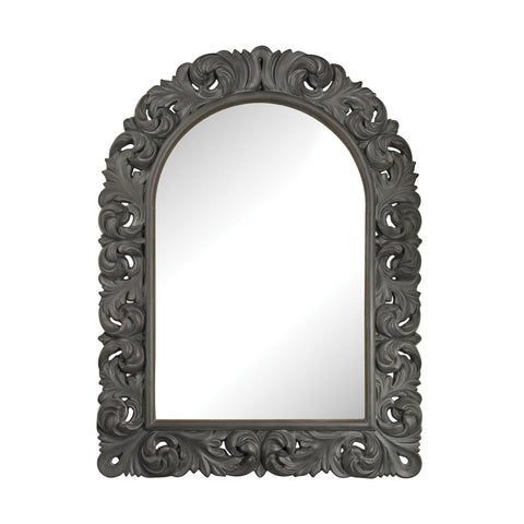 Beautiful Sterling  Arched Scroll Mirror  in  Composite