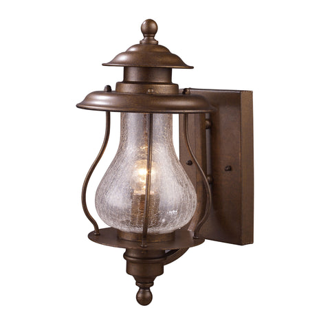Wikshire 1 Light Outdoor Wall Mount In Coffee Bronze
