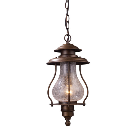 Wickshire 1 Light Outdoor Pendant In Coffee Bronze