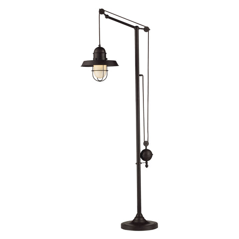 Beautiful Dimond Lighting  Farmhouse 1 Light Adjustable Floor Lamp In Oiled Bronze  in  Metal