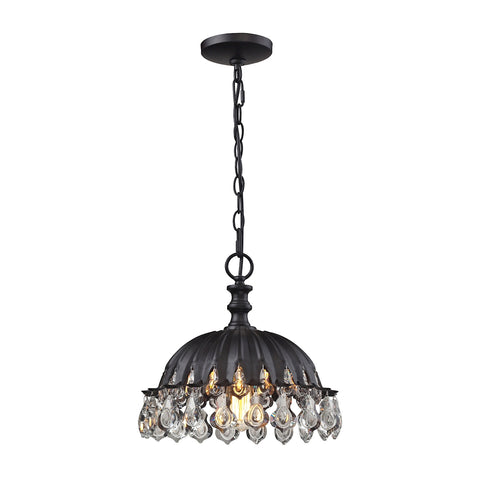 Zuella 1 Light Pendant In Matte Black