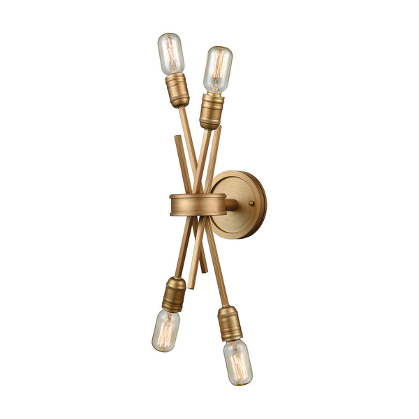 Xenia 2 Light Wall Sconce In Matte Gold