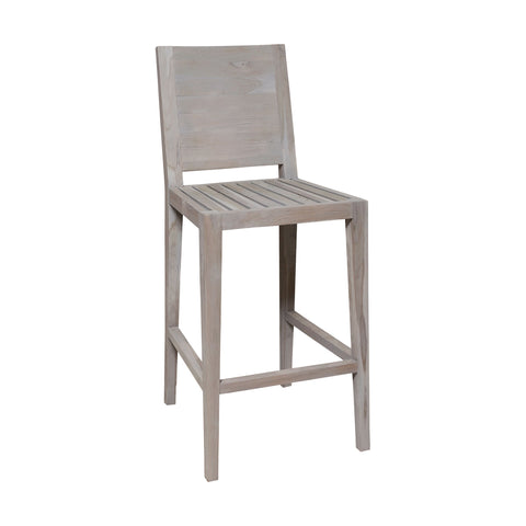 Beautiful GuildMaster  Laguna Outdoor Bar Stool  in  Teak