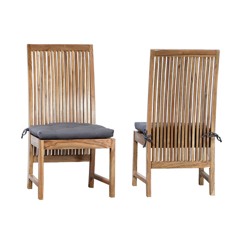 Beautiful GuildMaster  Harvard Indoor/Outdoor  Side Chair - Set of 2  in  Teak