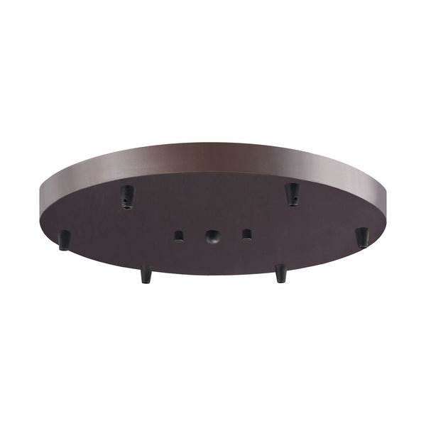 Illuminaire Accessories 6 Light Round Pan In Oil Rubbed Bronze