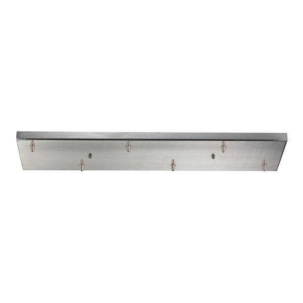Illuminaire Accessories 6 Light Rectangular Pan In Satin Nickel