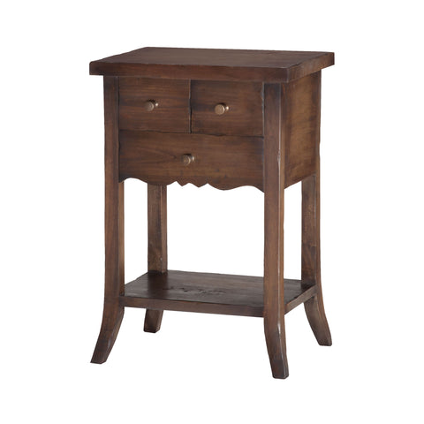 Beautiful Sterling  3-Drawer East Hampton Side Table  in  Solid Mahogany