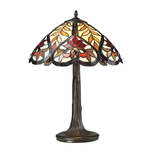 Brimford Tiffany Glass Table Lamp in Tiffany Bronze