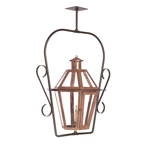 Elk Grande Isle Outdoor Gas Ceiling Lantern In Aged Copper Outdoor Hanging item number 7924-WP
