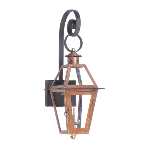 Elk Grande Isle Outdoor Gas Wall Lantern In Aged Copper Outdoor Wall item number 7927-WP
