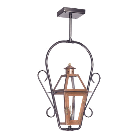 Elk Grande Isle Outdoor Gas Ceiling Lantern In Aged Copper Outdoor Hanging item number 7928-WP