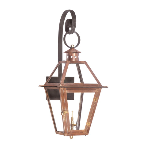 Elk Grande Isle Outdoor Gas Wall Lantern In Aged Copper Outdoor Wall item number 7931-WP