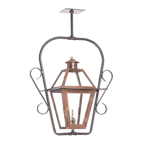 Elk Grande Isle Outdoor Gas Ceiling Lantern In Aged Copper Outdoor Hanging item number 7932-WP