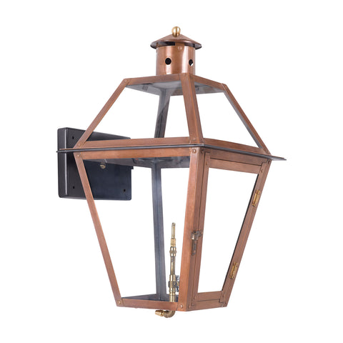 Elk Grande Isle Outdoor Gas Wall Lantern In Aged Copper Outdoor Wall item number 7933-WP