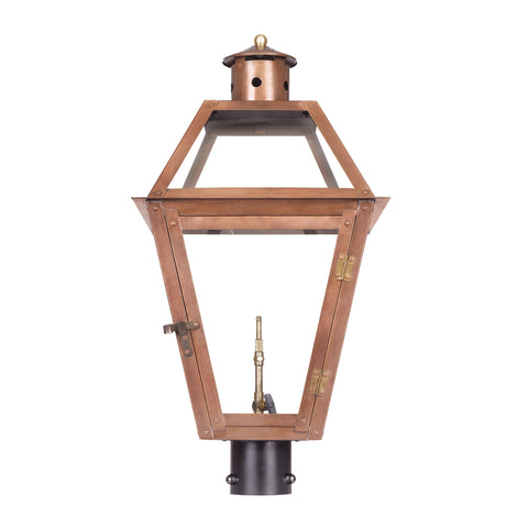 Elk Grande Isle Outdoor Gas Post Lantern In Aged Copper Outdoor Post item number 7934-WP