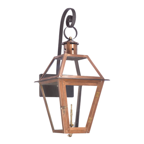 Elk Grande Isle Outdoor Gas Wall Lantern In Aged Copper Outdoor Wall item number 7935-WP