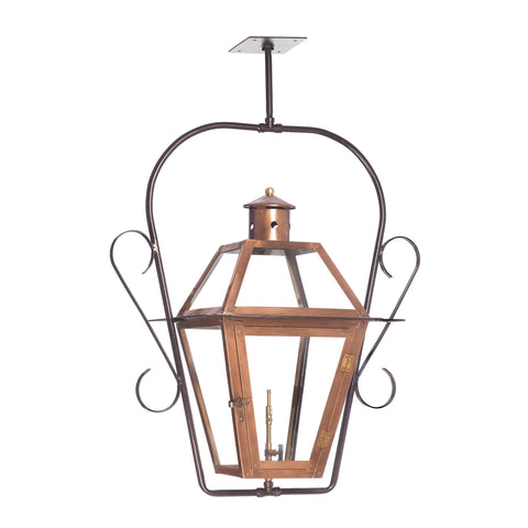Elk Grande Isle Outdoor Gas Ceiling Lantern In Aged Copper Outdoor Hanging item number 7936-WP