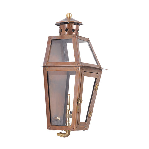 Elk Grande Isle Outdoor Gas Pocket Lantern In Aged Copper Outdoor Wall item number 7940-WP
