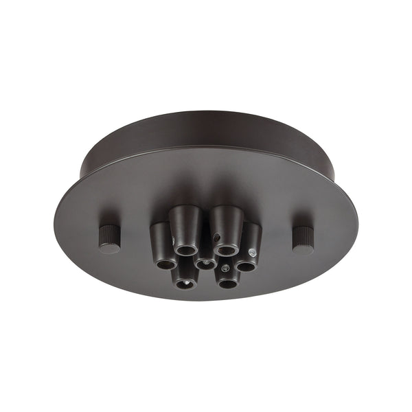 Illuminaire Accessories 7 Light Small Round Canopy In Oil Rubbed Bronze