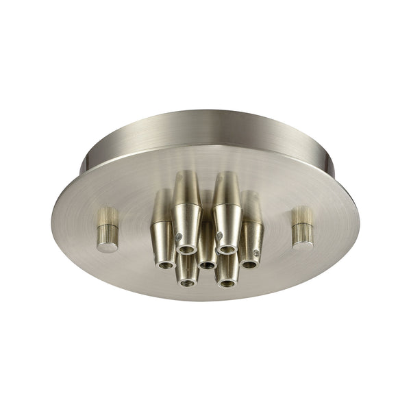 Illuminaire Accessories 7 Light Small Round Canopy In Satin Nickel