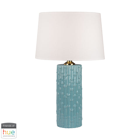 Beautiful Dimond Lighting  Bamboo Ceramic Table Lamp - with Philips Hue LED Bulb/Bridge  in  Ceramic