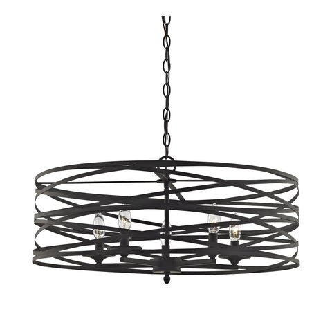 Vorticy 5 Light Chandelier In Oil Rubbed Bronze