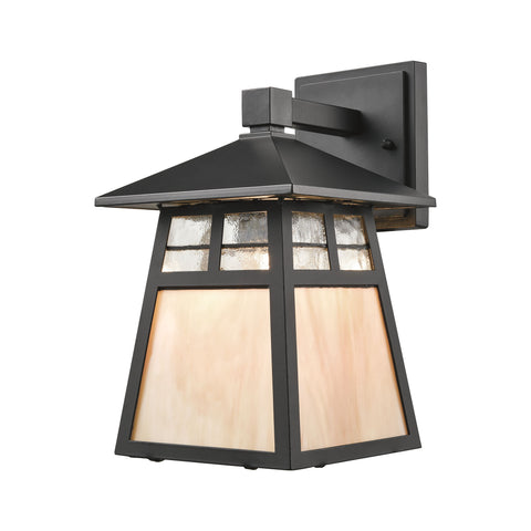 ELK Lighting  Cottage 1 Light Outdoor Wall Sconce in Matte Black