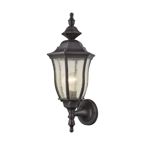 Elk Bennet 1 Light Outdoor Wall Sconce In Graphite Black Outdoor Wall item number 87080/1