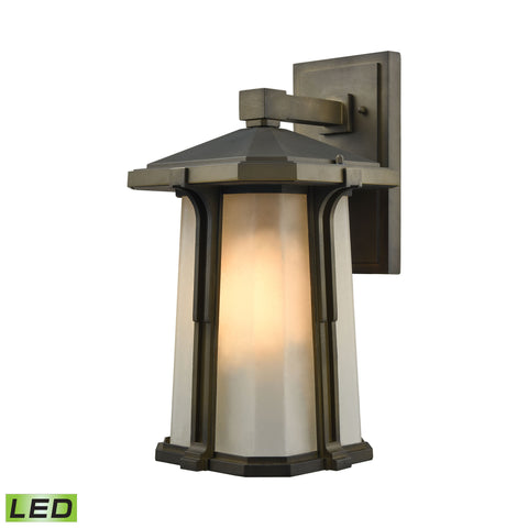 Brighton 1 Light LED Outdoor Wall Sconce In Smoked Bronze