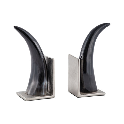 Beautiful Sterling  Abilene Natural Horn Bookends - Set of 2  in  Composite