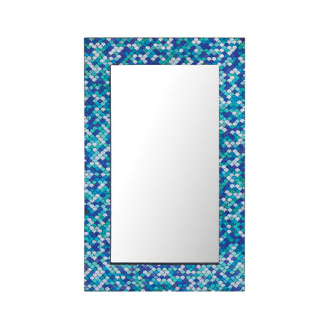 Beautiful Sterling  Aphrodisia Large Mirror  in  Mosaic Glass