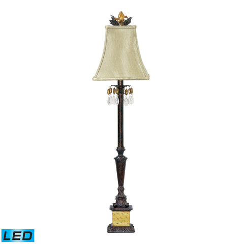 Beautiful Dimond Lighting  Acorn Drop 1 Light LED Table Lamp in Black And Gold  in  Acrylic, Composite, Metal